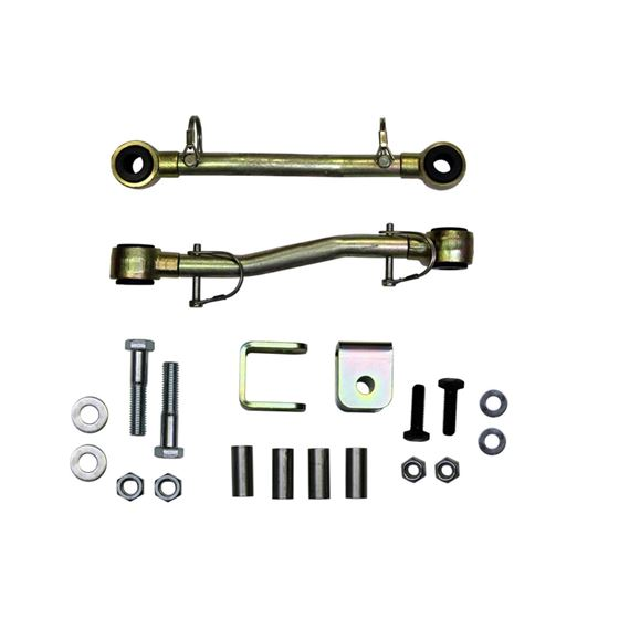 Sway Bar Extended End Links Disconnect Front Lift Height 254 Inch Double Black Rubber Bushings 9706