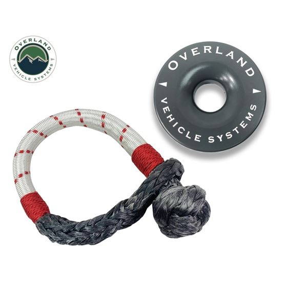 Combo Pack Soft Shackle 716 41000 lb and Recovery Ring 40 41000 lb Gray 1